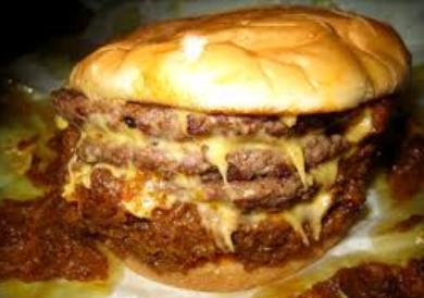 greasy burger