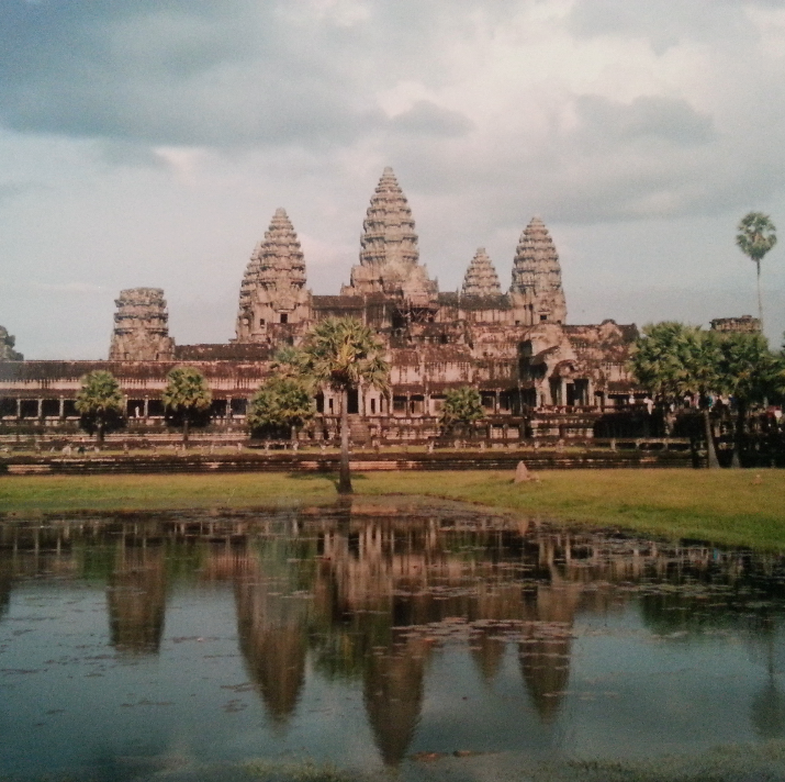 The obligatory tourist angle of Angkor Wat.