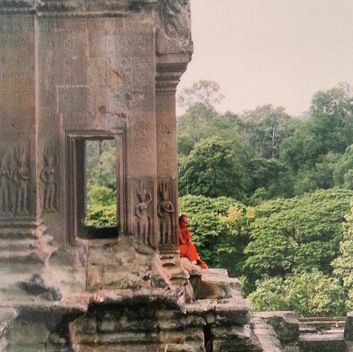 A Khmer monk sitting and thinking. This shot is the first that comes to mind when I think of my time in Cambodia.
