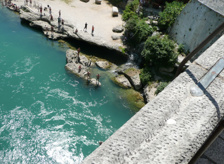 For 60 Euros you can have the honour of jumping off the bridge.