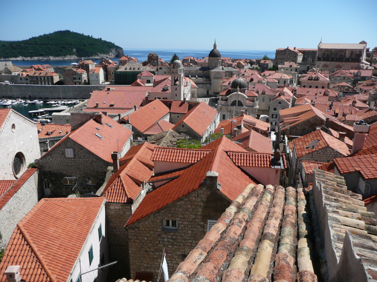The terracotta rooftops of Dubrovnik.