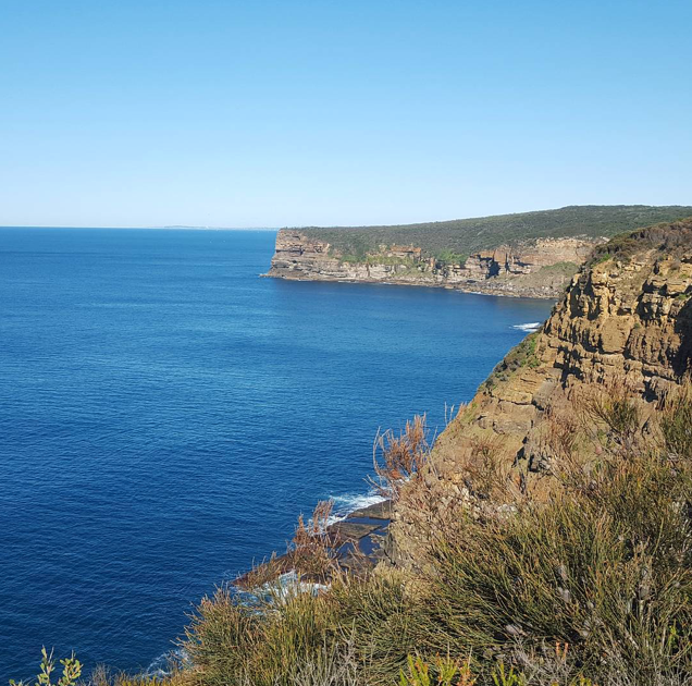 Looking back along the coast towards Sydney.