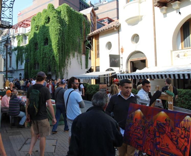 The artistic quarter of Lastarria in Santiago.