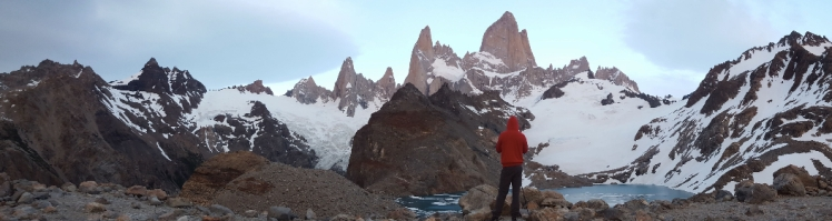 After a 3:45am wake up and a 1.5 hour walk up a mountain, I was treated to Cerro Fitzroy at sunrise.